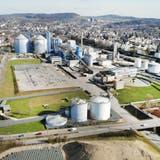 Frauenfeld-West mit der Zuckerfabrik aus der Vogelperspektive. (Bild: Andrea Stalder (19.02.2021))