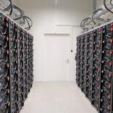 Blick ins Innere eines Batteriespeichers von Arbon Energie. (Bild: PD)