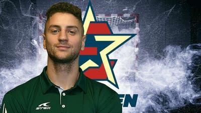 Der slowenische Rückraumspieler Nino Grzenticholte in der slowakischen Meisterschaft soeben den Titel. (zvg/Handball Endingen)