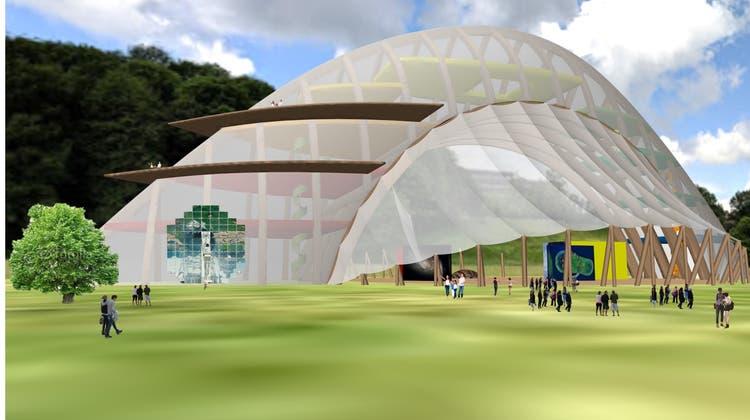 Den Kern des Expo bildet ein imposanter Holzbau. (zvg)