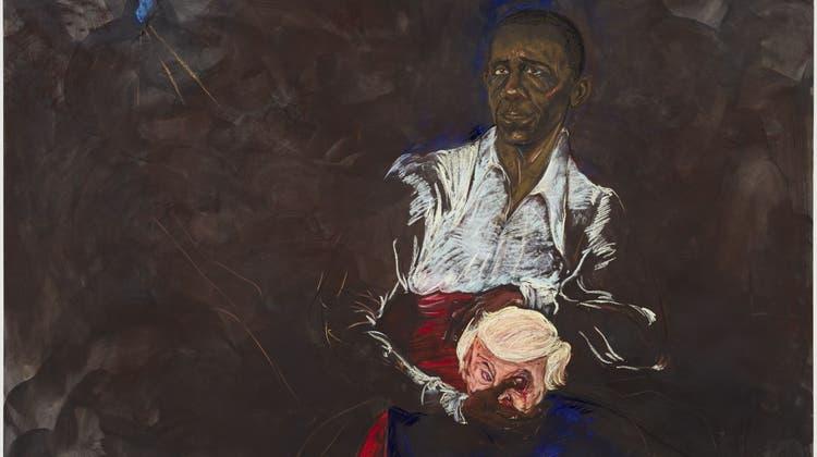 Kara Walkers «´merica 2016» orientiert sich an Pablo Picasso. (Bild: Kunstmuseum Basel / Ankauf)