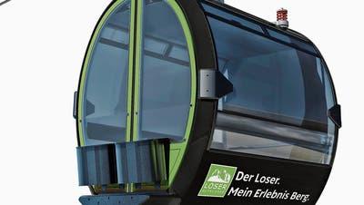 Visualisierung der Loser-Gondelbahn von Bartholet im «Design by Porsche Design Studio».