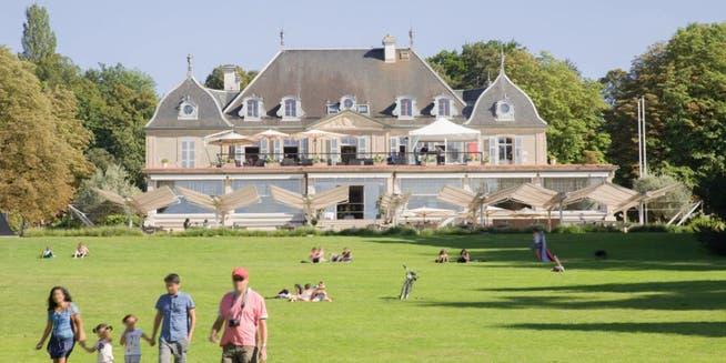 Das Hotel im Parc des Eaux Vives in Genf: Hier sollen sich Biden und Putin treffen.