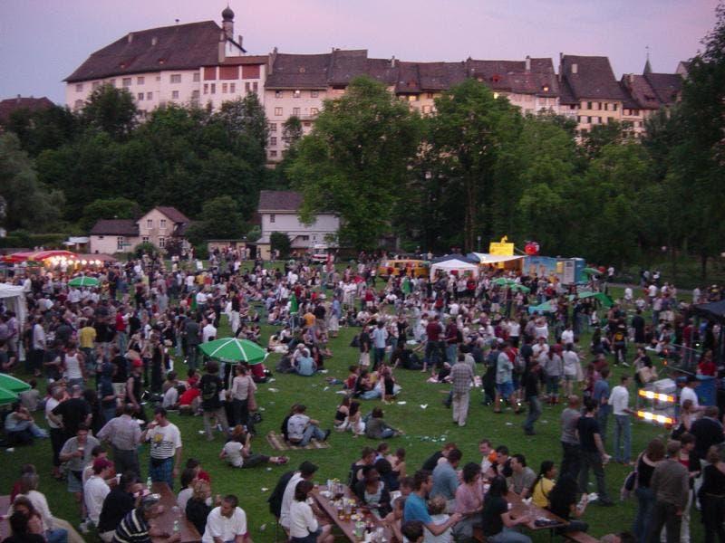 Die Kulisse des Wiler Festivals sucht seinesgleichen, hier auf einer Aufnahme aus dem Jahr 2003.