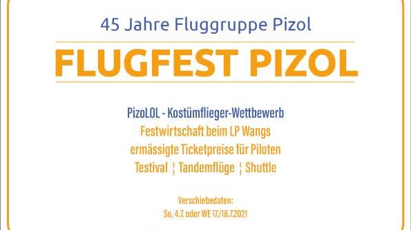 Flugfest Pizol – 45 Jahre Fluggruppe Pizol!