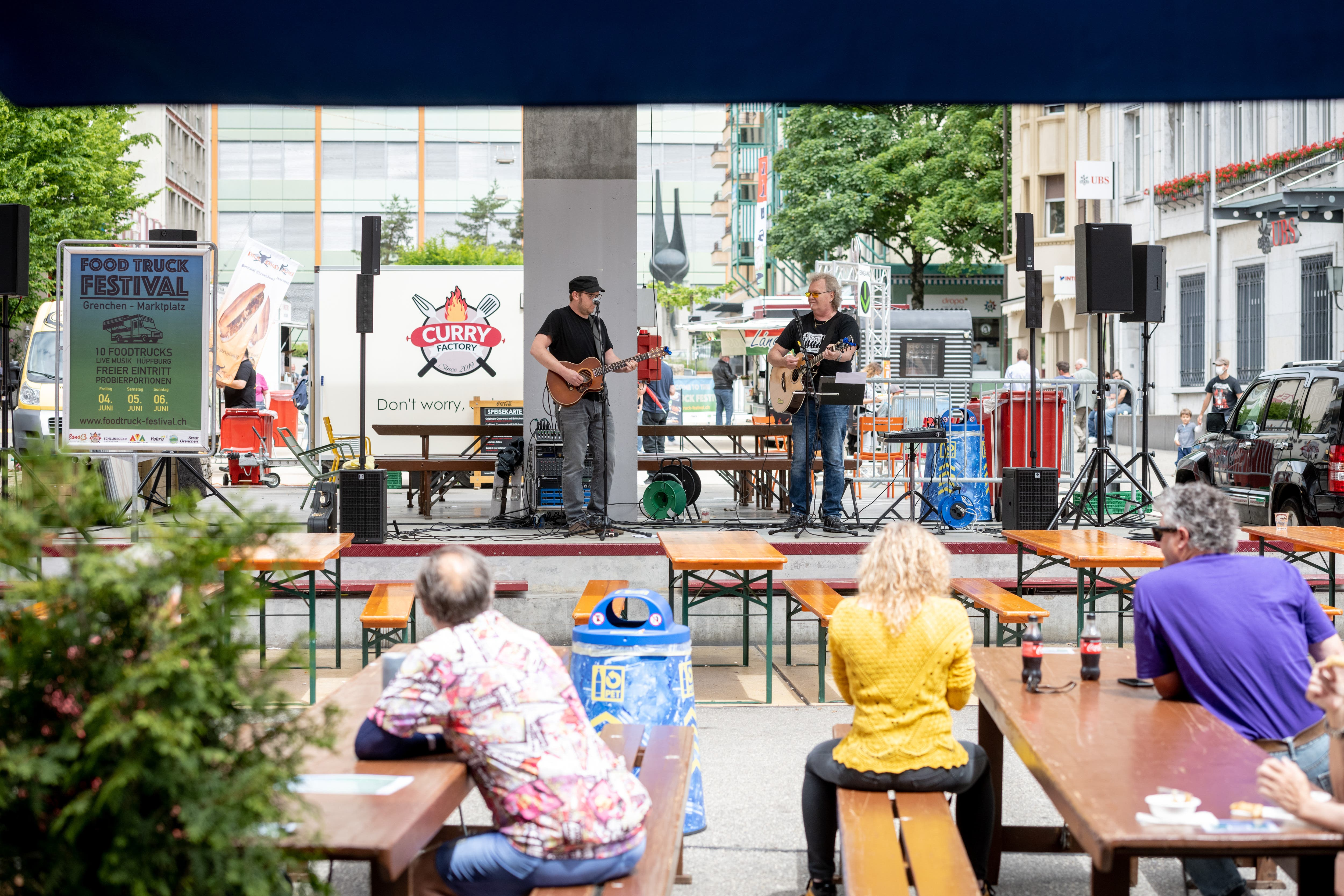 Auch musikalisch kam man am Food-Truck-Festival auf seine Kosten.