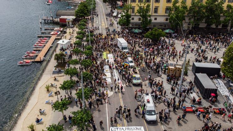 Sachschäden nach unbewilligter Demo in Lugano