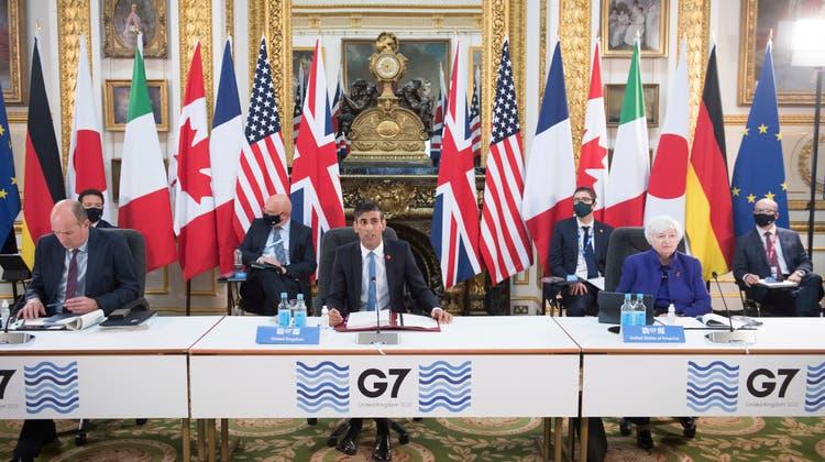 Treffen der G7-Finanzminister in London (4. Juni 2021). (AP Pool PA /Keystone)