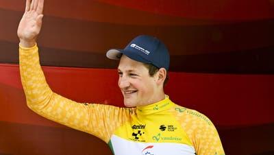 Strahlt in gelb: Stefan Küng. (Gian Ehrenzeller / KEYSTONE)