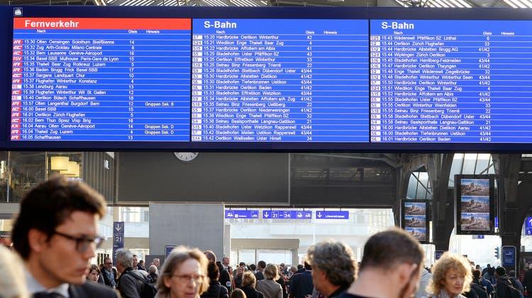 Nach Ausfall: SBB-Anzeigetafeln funktionieren wieder