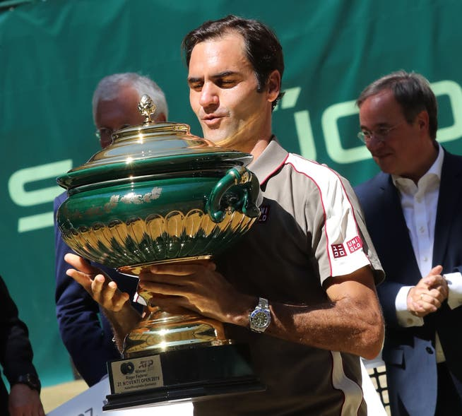 In 2019, Roger Federer won for the tenth time in Halle.