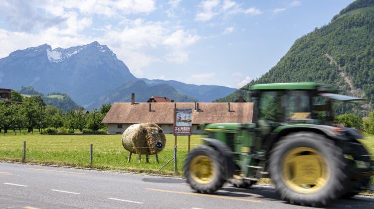 Ein Bauernhof in Stans, Kanton Nidwalden. (Urs Flüeler /Keystone)