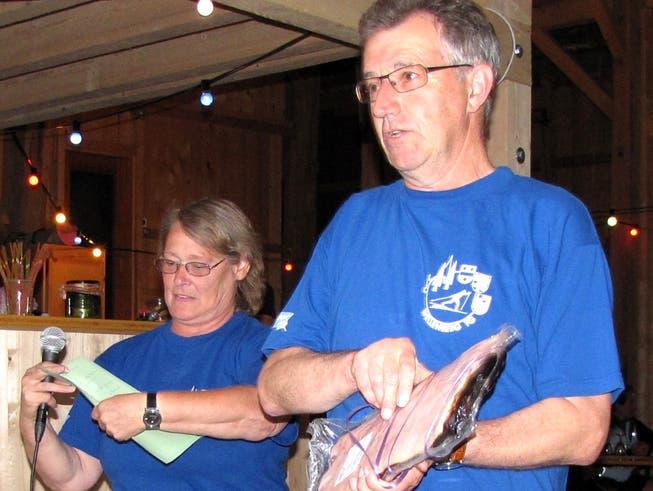 Sylvia Brassel und Heinz Bommer anlässlich des 1. Events des LC Wellenbergs.
