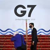 US-Finanzministerin Janet Yellen und der britische SchatzmeisterRishi Sunak machen erste Schritte hin zu einer neuen Steuerwelt. (Andy Rain / EPA)