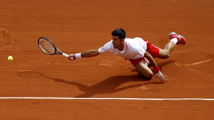 Beinahe stolperte Djokovic gegen den Debütanten. (Ian Langsdon / EPA)