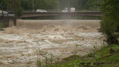 Nach starken Regenfällen: Hochwasser-Alarm an der Sitter