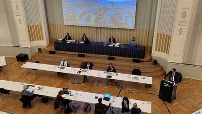 Sitzung des Grossen Gemeinderats Zug im Theater Casino. (Bild: Harry Ziegler (Zug, 13. April 2021))