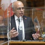 Finanzminister Ueli Maurer im Parlament. (Peter Schneider/Keystoen)