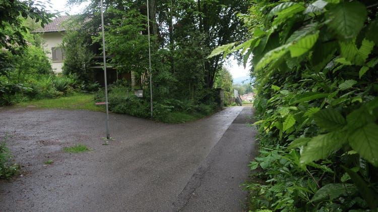 In Gontenschwil sind bei der Hettligen/Widenmattstrasse 6 Einfamilienhäuser geplant. Dazu muss eine kumunal geschützte Hecke weichen. (Flurina Dünki)
