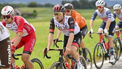 Die Tour des Suisse mit Fahrern wie Marc Hirschi führt heute auch durch den Aargau. (Gian Ehrenzeller/Keystone)