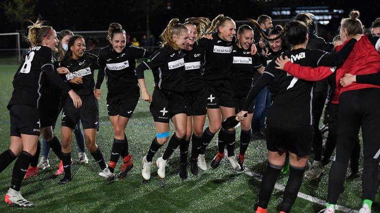 Die FC Aarau Frauen möchten sich langfristig in der NLA etablieren. (Alexander Wagner)