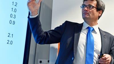 Zumindest kurzfristig geht es nur aufwärts: Economiesuisse-Chefökonom Rudolf Minsch. (Archivbild) (Keystone)