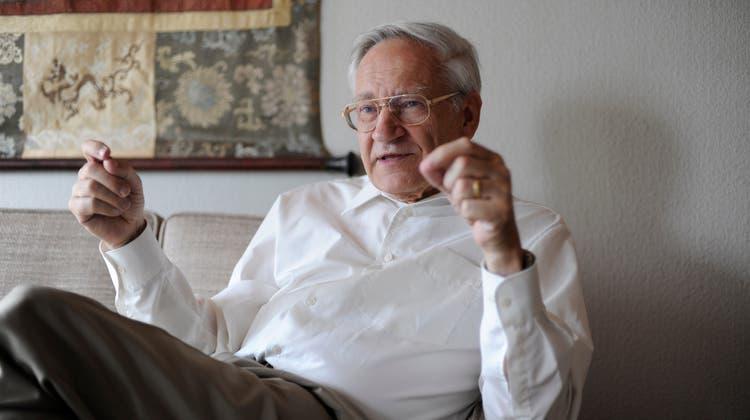 Nobelpreisträger Richard Ernst bei einem Interview im Jahr 2009. (Coralie Wenger)