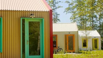 So könnten Wohncontainer für Obdachlose aussehen. (zvg/Perspektive)