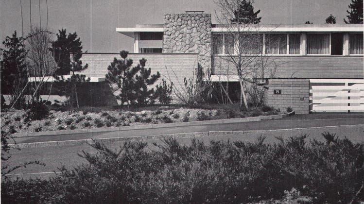 Das «Haus Grüninger» in Riehen, aufgenommen kurz nach der Fertigstellung Ende der Fünfzigerjahre. (Zvg)