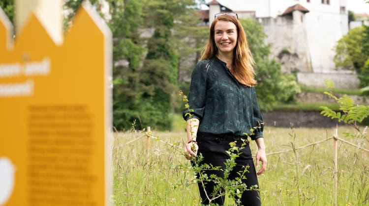 """Jacqueline von Arx, Projektleiterin vom Naturama, freut sich sehr über den Preis für """"Natur findet Stadt"""". (Britta Gut)"""