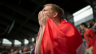 Die Schweizer-Nati spielt am Samstag zum ersten Mal in dieser Fussball-Europameisterschaft. Fans haben einiges an Möglichkeiten für Public Viewings. (Symbolbild: Benjamin Manser)