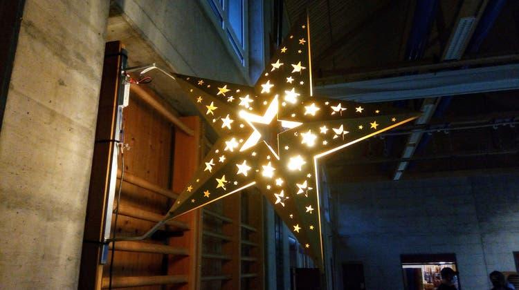 Modell von neuer Weihnachtsbeleuchtung in Boningen namens «Sternstunde» (Fabian Muster)