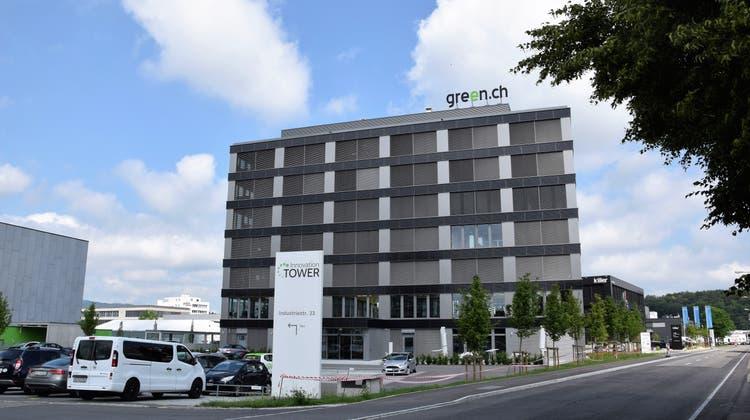 Die Green Datacenter AG an der Industriestrasse in Lupfig. (Bild: Michael Hunziker (AZ Archiv))