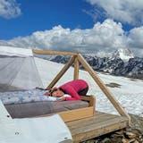 Der Himmel war unser Zelt – die Plane brauchten wir in der Nacht nicht. (Bild: Irene Stutz)