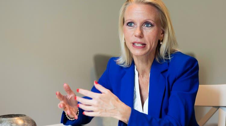 Lilian Studer aus Wettingen ist Nationalrätin EVP und Parteipräsidentin der EVP Schweiz. (Britta Gut)