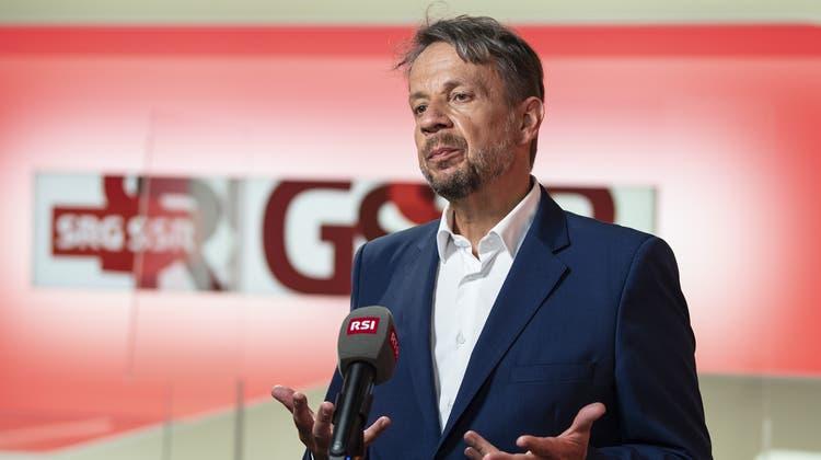 Sein Stuhl wackelte heftiger, als es bisher bekannt war: SRG-Generaldirektor Gilles Marchand. (Peter Schneider / KEYSTONE)