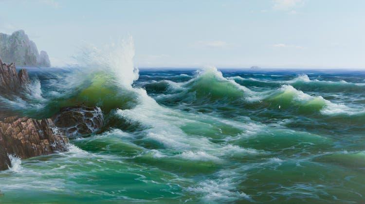 "North Korea Collective ""The Sea"", 2008 Öl auf Leinwand 150x 295 cm (Sigg Collection / Kunstmuseum Bern)"