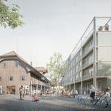 So soll das Bauprojekt Eichwald dereinst aussehen. (Visualisierung: Nightnurse Images)
