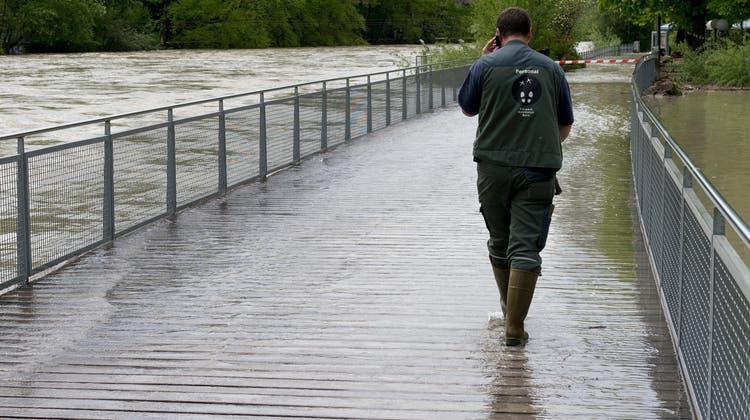 2015 kam es im Gebiet der Stadt Bern zu einem Hochwasser. (Keystone)