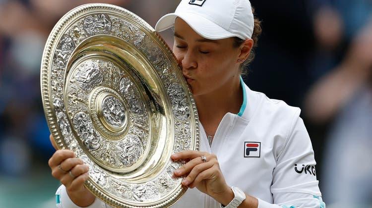 Ashleigh Barty sichert sich ihren zweiten Grand-Slam-Titel ihrer Karrire. Es ist der erste in Wimbledon. (Keystone)