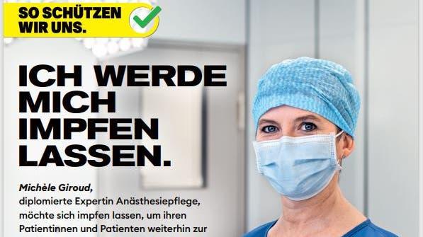 Richtige Kampagne? Das Gesundheitspersonal zeigt sich landauf landab eher impfskeptisch. (zvg)
