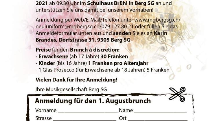 1. Augustbrunch & offizielle Bundesfeier der Gemeinde Berg