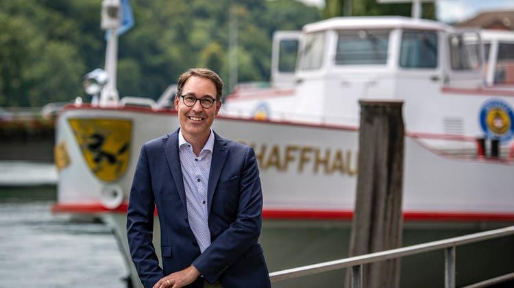Remo Rey ist der Geschäftsführerder Schweizerischen Schifffahrtsgesellschaft Untersee und Rhein AG (URh). (Bild: Reto Martin)