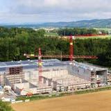 Die im Bau befindliche Anlage der Bioenergie Frauenfeld. (Bild: PD)