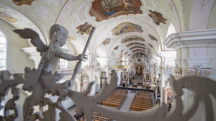 Die Klosterkirche Engelberg ist Schauplatz der Orgelsommer-Konzertreihe. (Bild:Urs Flüeler/Keystone (17. Juli 2019))