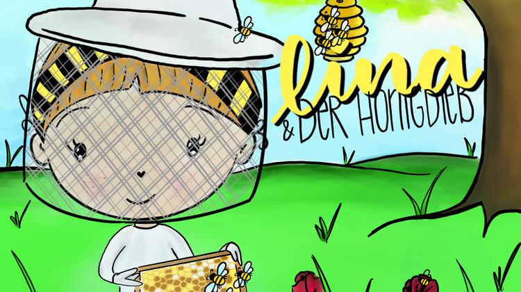 So sieht das Cover von «Lina und der Honigdieb» aus. Martina Petrig hat die Illustration selbst kreiert. (zvg)