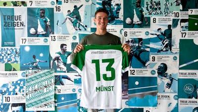 Der 19-jährige Leonhard Münstkommt aus dem Nachwuchs des VfB Stuttgart und verstärkt den FC St.Gallen leihweise für eine Saison. (Bild: FC St.Gallen)