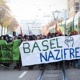 Eine Demonstration der PNOS und eine Gegendemo von Linken führte im November 2018 zu Ausschreitungen in Basel. (Archivbild: Roland Schmid)