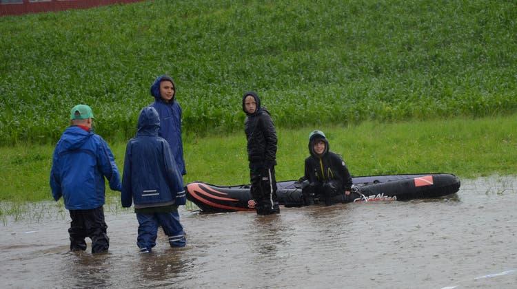In Risch-Rotkreuz hat diese Woche das grösste Jubla-Lager des Landes begonnen - unter erschwerten Bedingungen. (Bild: Jungwacht Blauring Luzern)