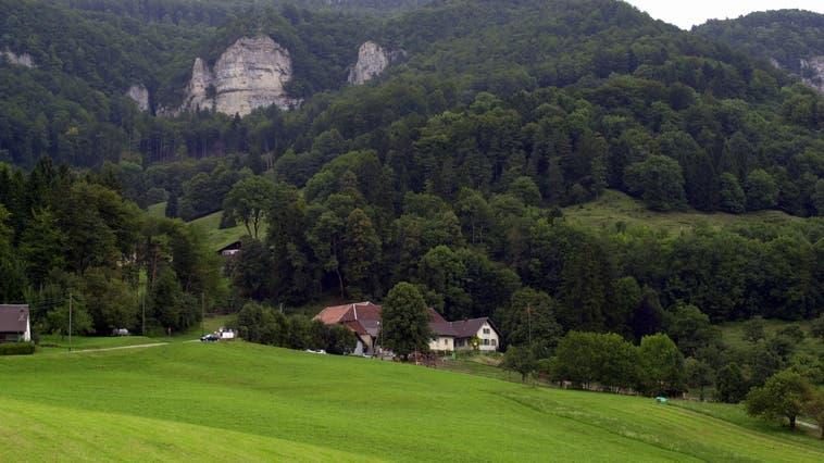 Die Liegenschaftenauf dem Glutzenberg sind heute an einer privaten Wasserversorgungangehängt. (Oliver Menge)